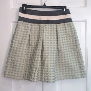 Mint green and grey Maeve Anthropologie Skirt